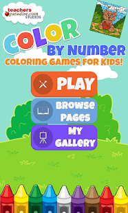 Color By Number Kids Art Game | FREE Android app market