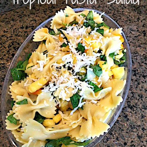 Tropical Bowtie Pasta Salad