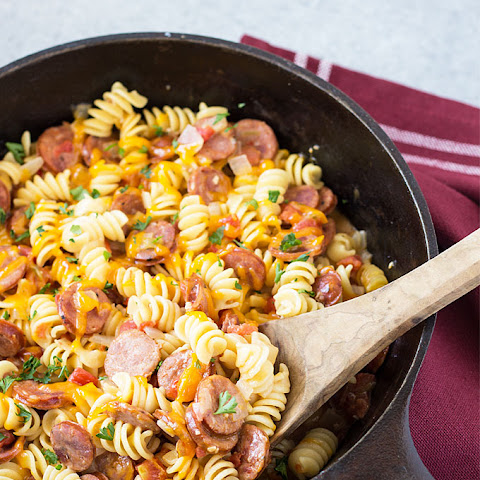 One Pan Cajun Andouille Sausage and Pasta