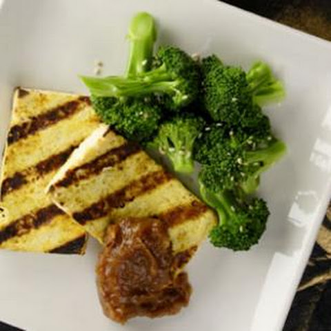 Grilled Curried Tofu with Sweet & Spicy Tamarind Chutney