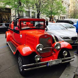 A Red Ford Car by Desi Albert Mamahit - Transportation Automobiles ( a red ford car )
