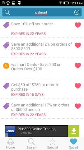 android Coupons for Hobby Lobby Screenshot 1