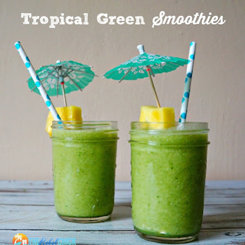 A Tropical Green Smoothies Recipe #ChiquitaCookingLab