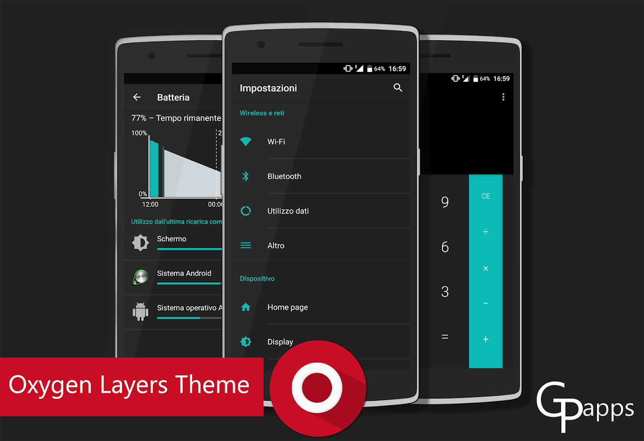Oxygen - Layers Theme Screenshot 0