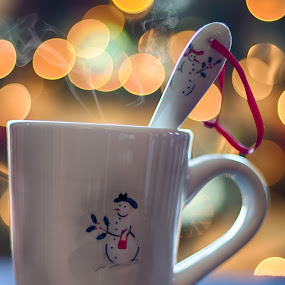 Hot Cocoa by Javier Luces - Public Holidays Christmas ( cup, chocolate, xmas, christmas, hot, holidays, bokeh, smoke,  )