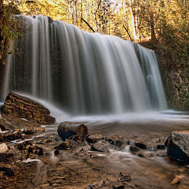 Hoggs Falls.  by Carl Chalupa - Landscapes Waterscapes ( hoggs falls, hoggs )