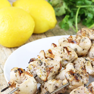 Grilled Lemon and Herb Chicken Thigh Skewers