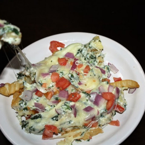 Cheesy Spinach Artichoke Fries