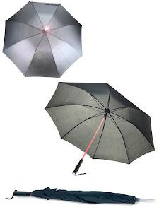 Зонт LED, с подсветкой, черный