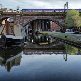 Boats & Trains by Allen Skinner - Transportation Boats ( manchester england )