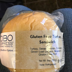 Pre-wrapped gluten free turkey sandwich. It's great to grab and go.