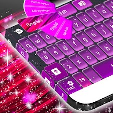 Pink and Purple Keyboard