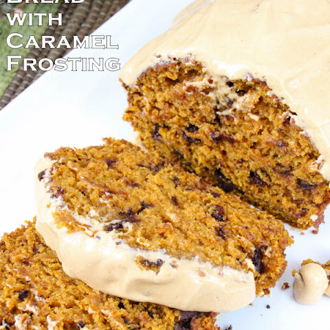 Pumpkin Bread with Caramel Frosting