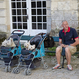 Dad and his babies by Denis Keith - People Street & Candids