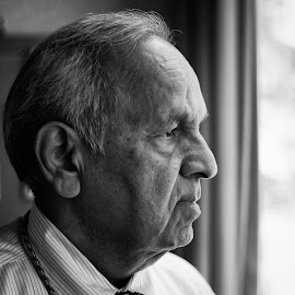 A Fine Colleague by Matt Forsbacka - People Portraits of Men ( black and white )