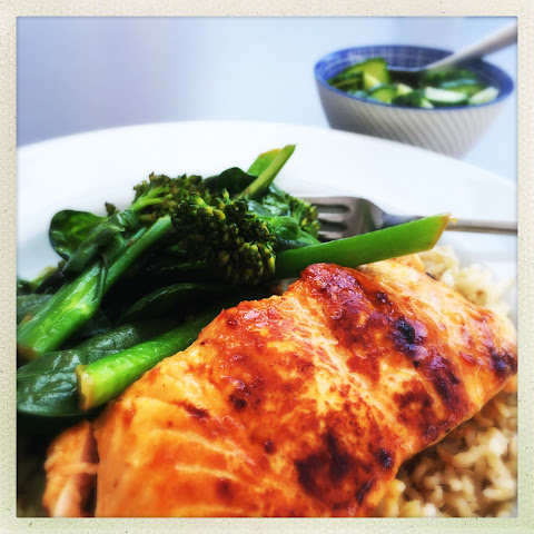 Sweet Chilli Salmon Fillets With Stir Fried Greens