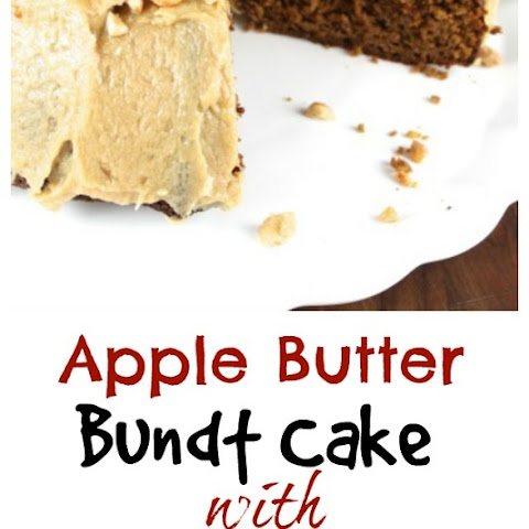 Apple Butter Bundt Cake with Peanut Butter Icing