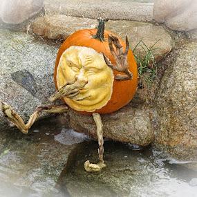 Pumpkin Art by Nancy Young - Public Holidays Halloween ( orange, pumpkin, carving, artistic, halloween,  )