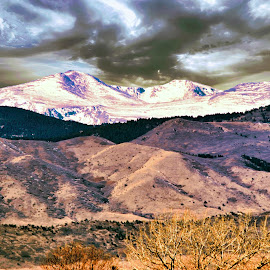 Snow up high by Bruce Newman - Landscapes Mountains & Hills ( foothills, mountains, snow, dramatic, landscape, skyscape,  )