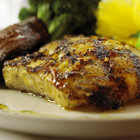 Grilled Sea Bass with Garlic Butter