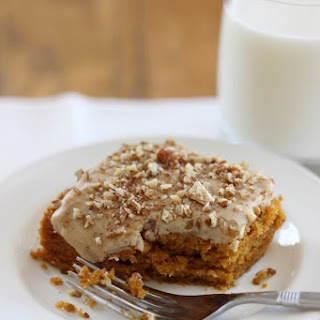 Pumpkin Snack Cake with Maple Icing