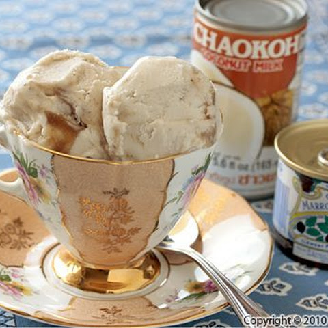 Coconut Milk Ice Cream Recipe with Chestnut Swirl