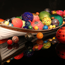 Chihuly Boat by Jeannine Jones - Artistic Objects Glass (  )