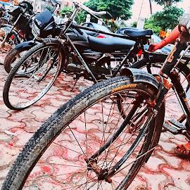 transportation by Kanak Khatri - Instagram & Mobile iPhone ( light, street scene, street, instagram, streetphotography, cycle, photography, street photography )