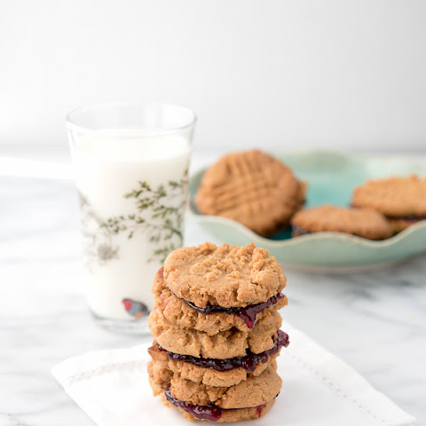 30-Minute Peanut Butter and Jelly Sandwich Cookie
