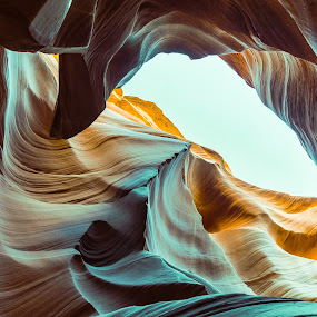 Colored and Convolated by Arif Sarıyıldız - Landscapes Caves & Formations ( sky, page, arizona, colored, usa, antelope canyon, travel photography )