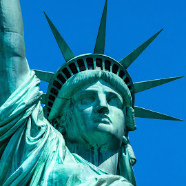 Lady LIberty by Heather Darden - Buildings & Architecture Statues & Monuments ( statue of liberty, nyc )