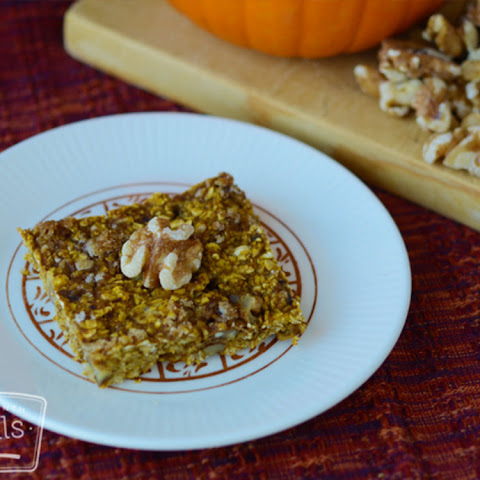 Vegan Pumpkin Walnut Oatmeal Bars