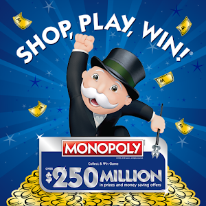 Shop, Play, Win!® MONOPOLY app for android