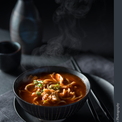 Spicy Tomato Chicken Noodle Soup