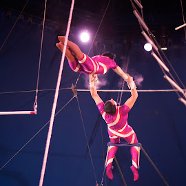 moment of truth by Mike Mulligan - People Musicians & Entertainers ( trapeze, performance, action, new york, circus )