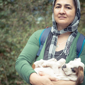Fur Baby by Andreea Alexe - People Portraits of Women ( white, adorable, woods, september )