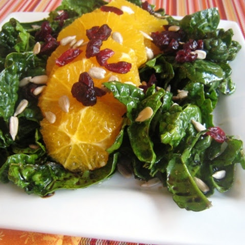 Spinach Salad with Oranges, Cranberries, & Sunflower Seeds