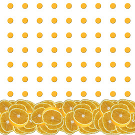 Orange polkadot repeat by Annalie Coetzer - Digital Art Things ( orange, fruit, food, healthy, oranges, repeat, polkadots )