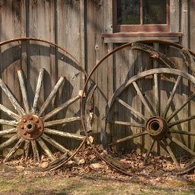 Wheel Remnants by Robert Coffey - Artistic Objects Other Objects ( wooden, window, wheels, rims, spokes )
