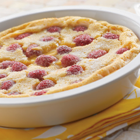 Lemon Raspberry Oven Pancake