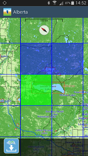 Aqua Map Alberta Lakes GPS - screenshot