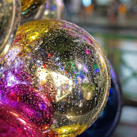 Colourful bubble by Alice Chia - Public Holidays Christmas ( bubble, colourful, blue, christmas, nights, round, pink, gold, light )