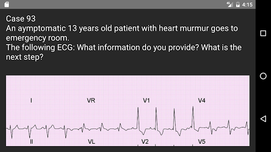 ECG 100 Clinical Cases screenshot for Android