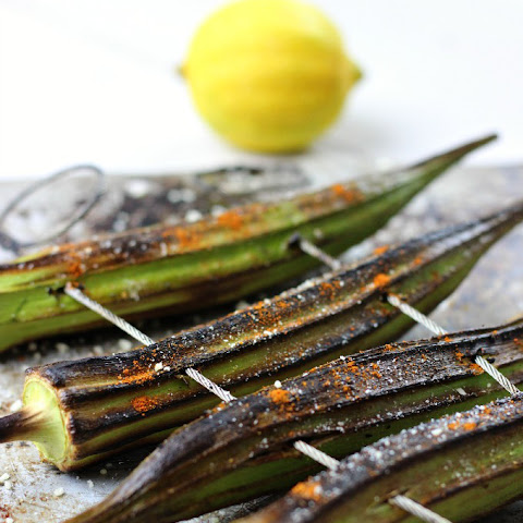 Cayenne + Lemon Grilled Okra