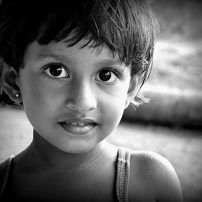 The eyes of truth by Mahdi Hussainmiya - Babies & Children Child Portraits ( natural light, b&w, innocence, children, eyes. portrait, youth, smile, people, culture )