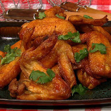 Crispy Lime Cilantro Chicken Wings with Sriracha
