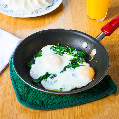 Handful of Spinach and Eggs Over Easy