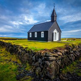 Black Church by Vincent Foo - Buildings & Architecture Places of Worship ( black church, iceland, church, churches, black )