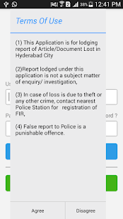 Lost Report - Hyderabad Police - screenshot