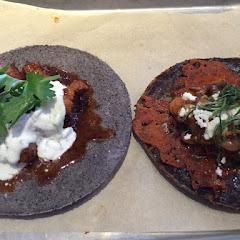 Chicken and mushroom tacos. Gourmet flavor blends.